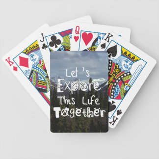 Let's Explore This Life Together Bicycle Poker Cards