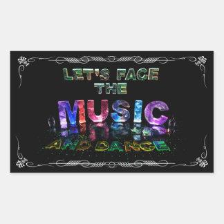 Let's Face the Music & Dance Rectangular Sticker