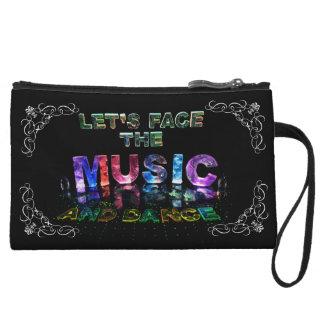 Let's Face the Music & Dance Wristlet Wallet