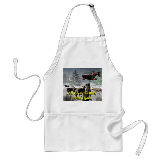 Let's Feed the Wolf Within You! Adult Apron