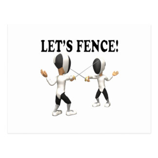 Lets Fence 2 Postcard