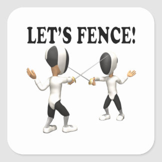 Lets Fence 2 Square Sticker