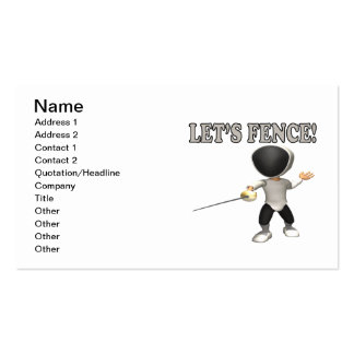 Lets Fence Business Card