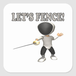 Lets Fence Square Sticker