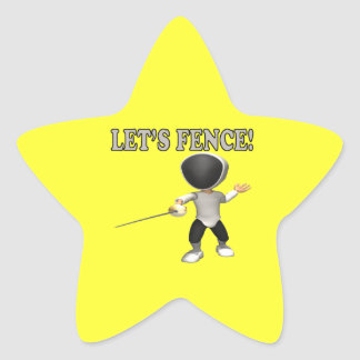 Lets Fence Star Sticker