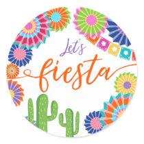 Let's fiesta favor tag Sticker Mexican Cactus
