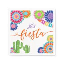 Let's fiesta Paper Napkin Mexican Cactus Floral