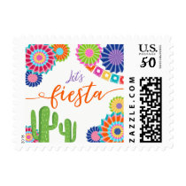 Let's fiesta Postage Stamps Mexican Cactus Shower