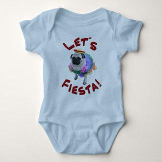 Let's Fiesta Pug Baby Bodysuit