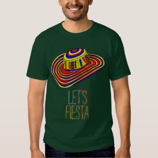 Let's Fiesta shirt with colorful Sombrero