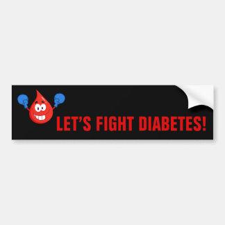 Let's Fight Diabetes Bumper Sticker