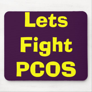 Lets Fight PCOS Mouse Pad
