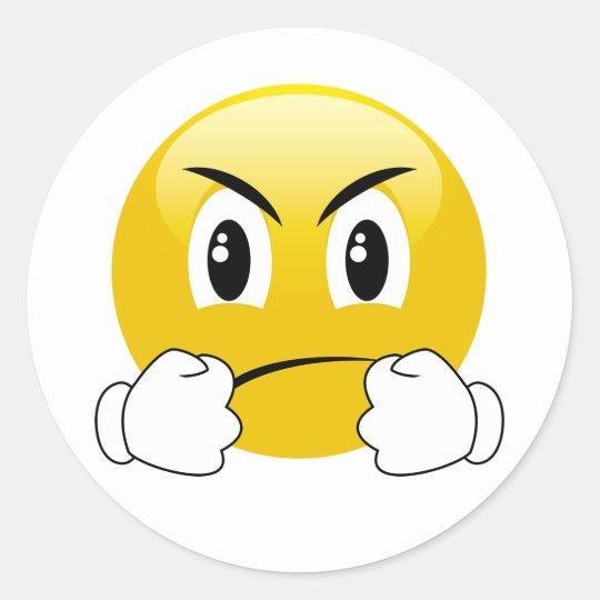Lets Fight Punching Emoji Stickers Zazzlecom