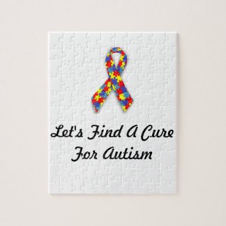Let's Find A Cure For Autism Puzzle