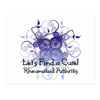 Let's Find a Cure! Rheumatoid Arthritis Design1 Post Cards