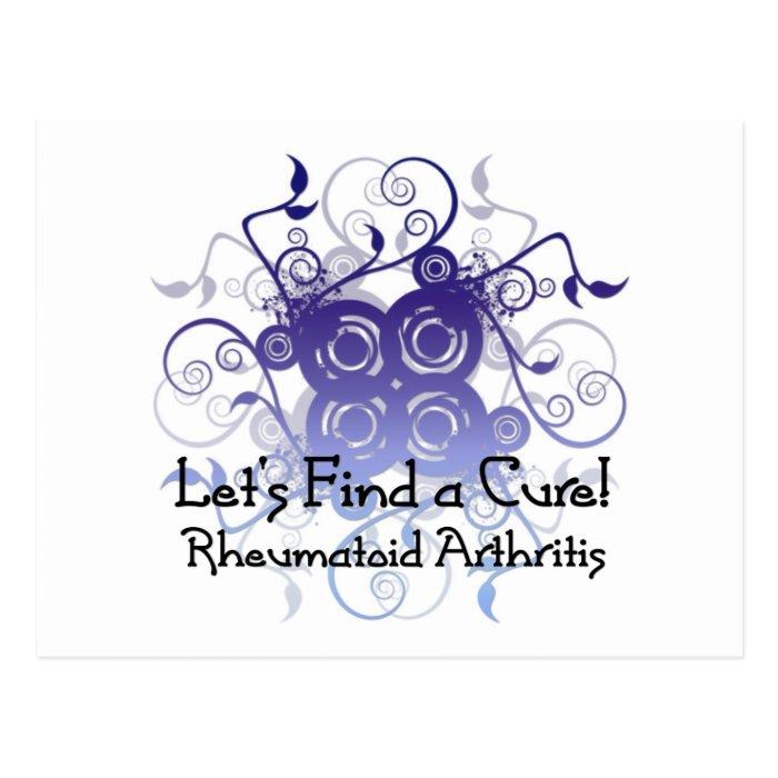 Let's Find a Cure! Rheumatoid Arthritis Design1 Postcard
