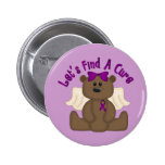 Let's Find The Cure Bear 2 Inch Round Button