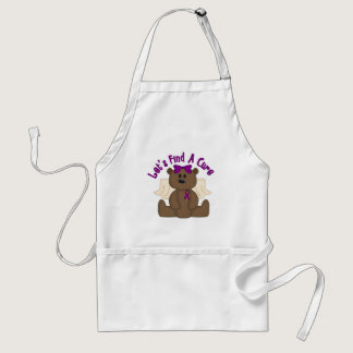 Let's Find The Cure Bear Adult Apron