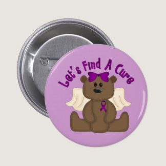 Let's Find The Cure Bear Button