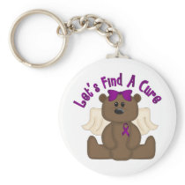 Let's Find The Cure Bear Keychain