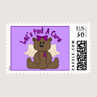 Let's Find The Cure Bear Postage