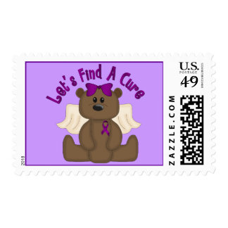 Let's Find The Cure Bear Postage Stamps
