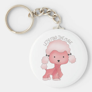 Let's Find The Cure Poodle Keychain