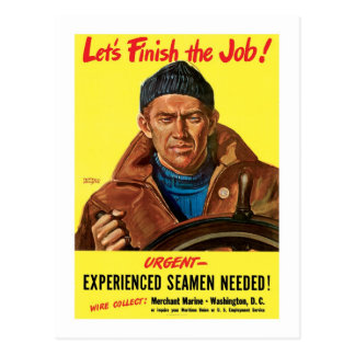 Let's Finish The Job! Postcard