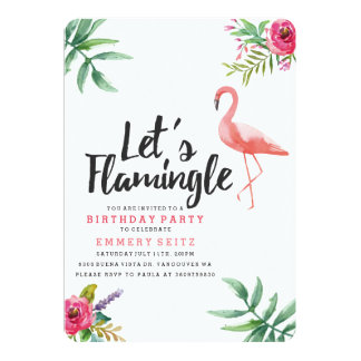 Let's Flamingle Birthday Party Invitation