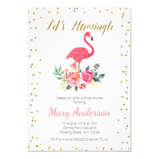 Let's Flamingle Bridal Shower Invitation