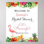 Let's Flamingle Flamingo Bridal Shower Sign