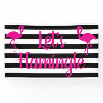 Let's Flamingle Pink Flamingo Banner