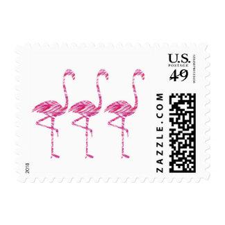 Let's Flamingle Postage Stamp