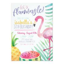 Let's Flamingle Summer Birthday Party Invitation