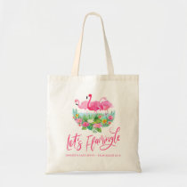 Let's Flamingle Tropical Bachelorette Tote Bag