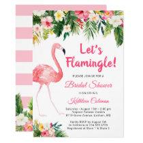 Let's Flamingle Tropical Floral Bridal Shower Invitation