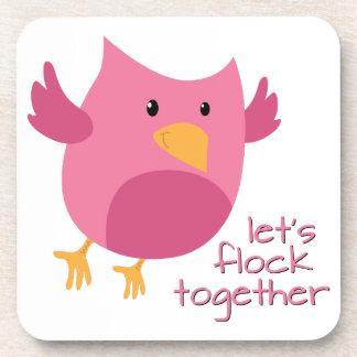 Let's Flock Together Coasters
