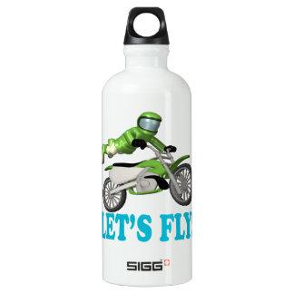 Lets Fly 2 Aluminum Water Bottle