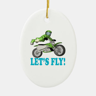 Lets Fly 2 Ceramic Ornament