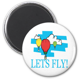 Lets Fly 2 Inch Round Magnet