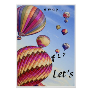 """""""Let's Fly Away"""", photo poster"""