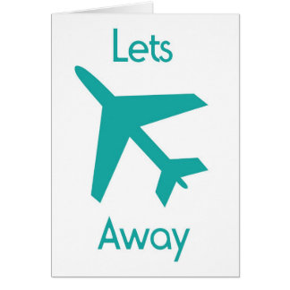 Lets fly away turquoise card