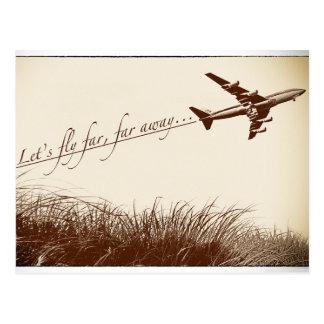 Let's Fly Far, Far Away Postcard