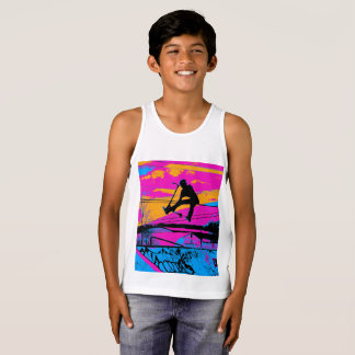 """""""Lets Fly!""""  High Flying Scooter Tank Top"""