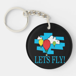 Lets Fly Keychain