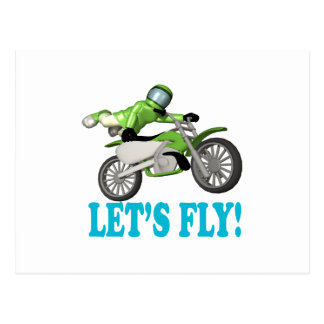 Lets Fly Postcard