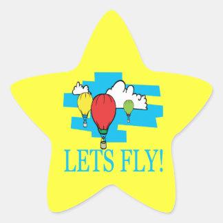 Lets Fly Star Sticker