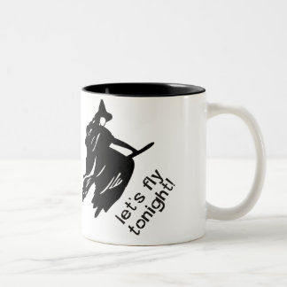 Let's fly tonight Two-Tone coffee mug