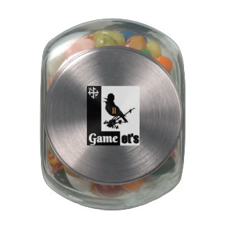 Let's Game Jelly Bean Jar Glass Candy Jars