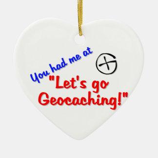 Let's Geocache Ceramic Ornament